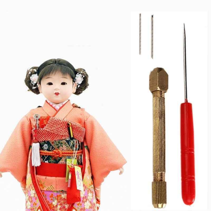 1set DIY Pop Haar Tol Set 0.6/0.8mm Pop Haar Wroeten Reroot Rehair Gereedschaphouder Met Extra naalden Reproduceren Haar Pop Tool