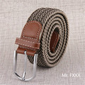 2016 men belt knitted casual all-match military army green tactical canvas elastic pin buckle belt strap young fashion