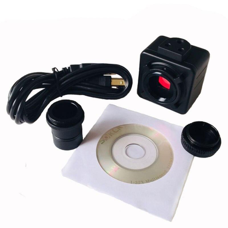5MP Cmos USB Câmera Ocular Do Microscópio Eletrônico Digital Motorista Livre Câmera Microscópio de Alta Resolução para Win10/7/win8