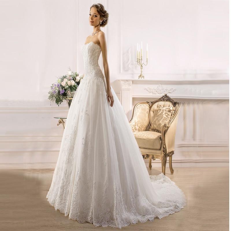 Cheap Wedding Dresses 2017 Lace Wedding Gowns Princess: Elegant Purple Belt Wedding Dresses Princess 2017 New