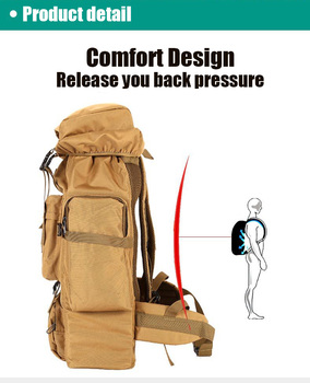 70L Outdoor Backpack Molle Military Tactical Backpack Rucksack Sports Bag Waterproof Camping Hiking Backpack For Travel 5