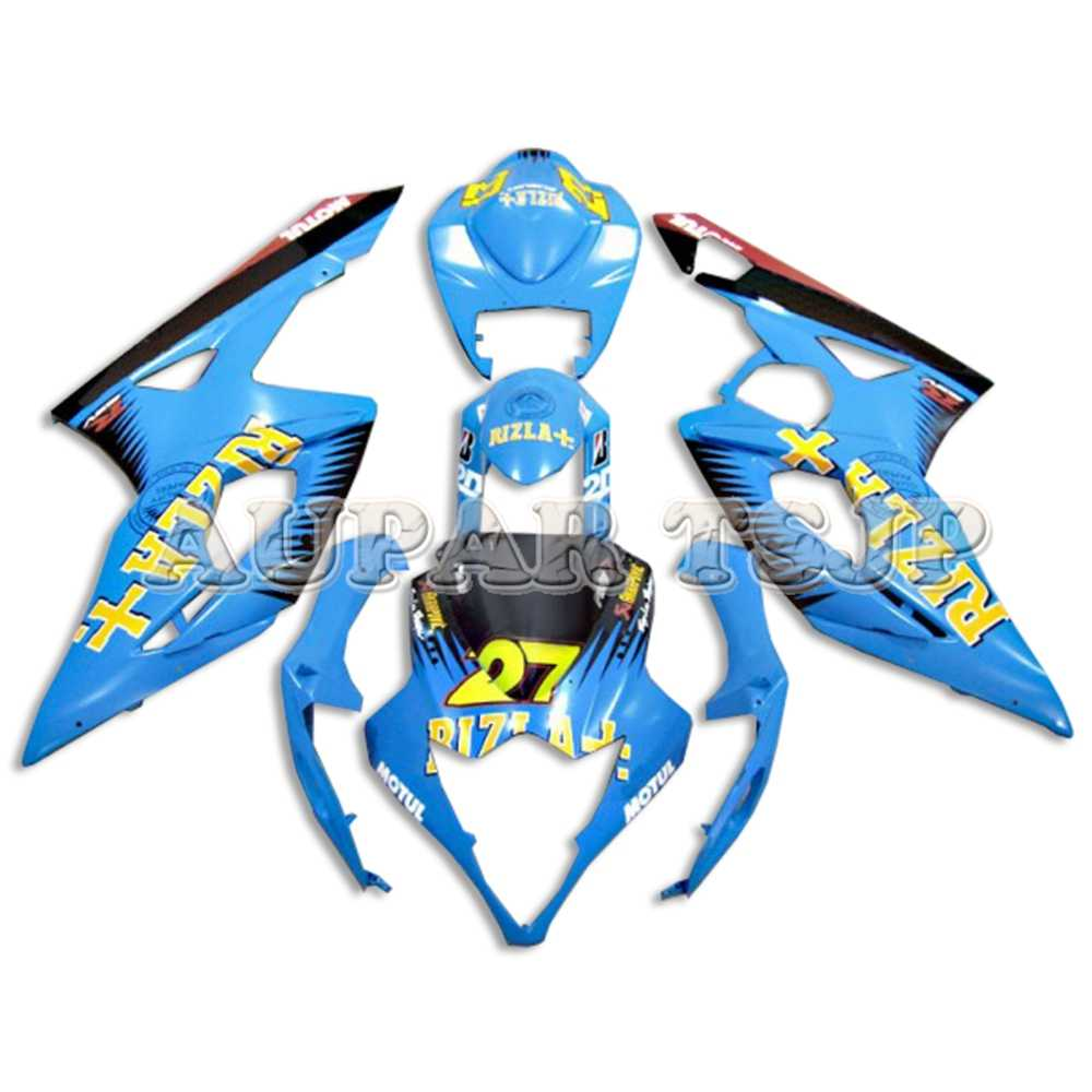 Cowlings for Suzuki GSXR1000 2005 2006 Panels Motorcycle Body Work GSXR1000  05 06 Fairings ABS Plastic Injection Lake Blue Black