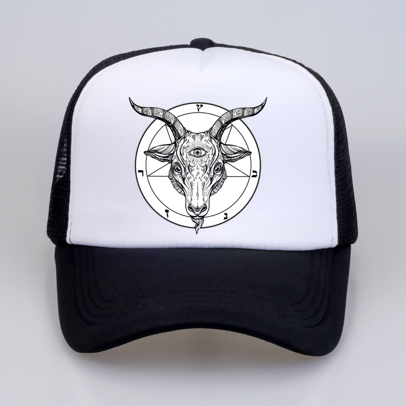 Fashion Vintage Hat Satanic Symbol Star Adjustable Dad Hat Baseball Cowboy Cap