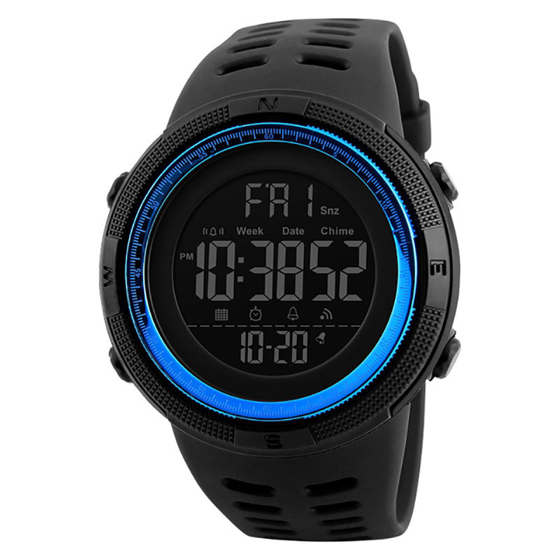 Sports Watches Men Silicone Countdown LED Digital Watch Waterproof Alarm Clock Wristwatches Male