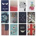 Fashion Cute Cartoon USA UK flag Card Slot leather stand holder Cover Case For Google Nexus 9 tablet 8.9 inch with screen film