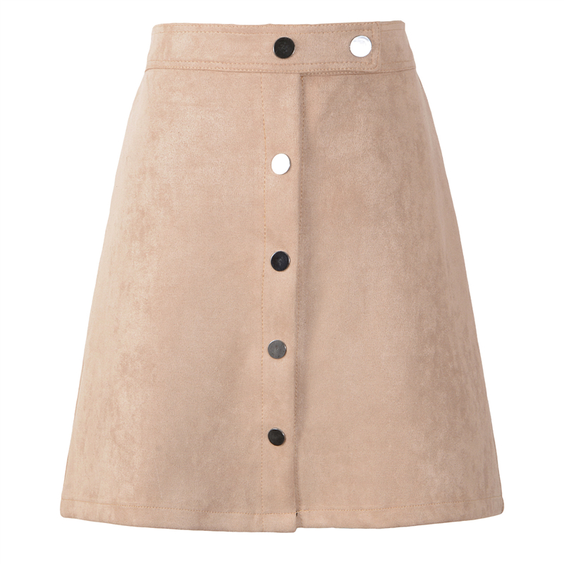 Neophil 19 Winter Women Suede Button Mini Vintage Style A Line Skirts High Waist Black Wrap Ladies Short Skirt Tutu Saia S1001 14