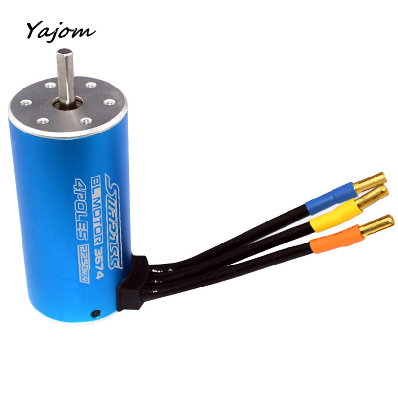 цены Free for shipping  MOTORE CLASSIC BRUSHLESS SENSORLESS BL 3674 2250KV 2Y 5.0mm RC 1/8 HIMOTO   High Quality May 10