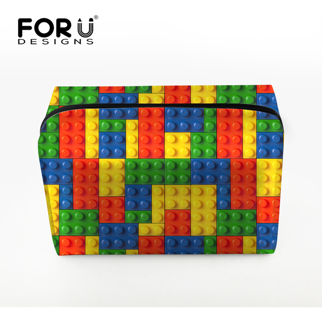FORUDESIGNS Women Makeup Bag Fashion Mixed-color Cosmetic Bags Organizer Toiletry Bag Ladies Bolsa Neceser Maquillaje Case Bags