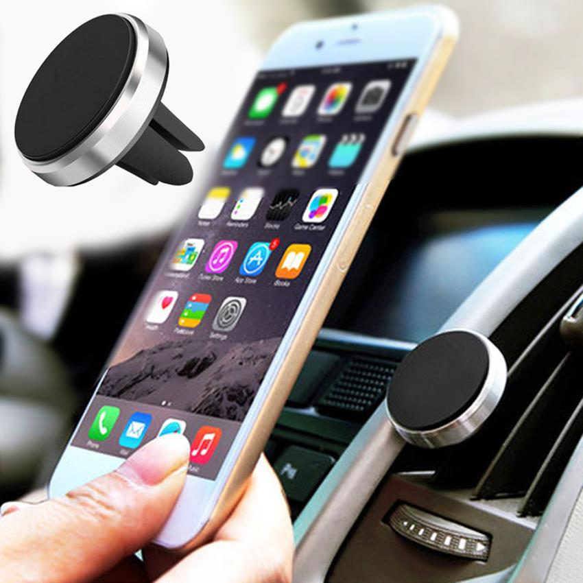 100% Waar Universele Magnetische Auto Telefoon Houder Air Vent Mount Magneet Mobiele Telefoon Stand Voor Iphone 7 Voor Samsung Gps Auto Kit Xiaomi Huawei Lg En Om Een Lang Leven Te Hebben.