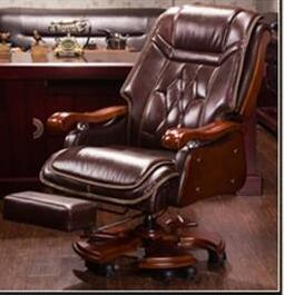 Boss Chair Leather Massage Reclining Office Chair Double Cushion Executive Chair Solid Wood Armchair.. the silver chair