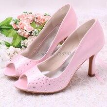 Wedopus Горячие Женщины Свадебные Свадебная Обувь Атласа Peep Toe 9 СМ дамская Пром Высокие Каблуки Летние Сандалии