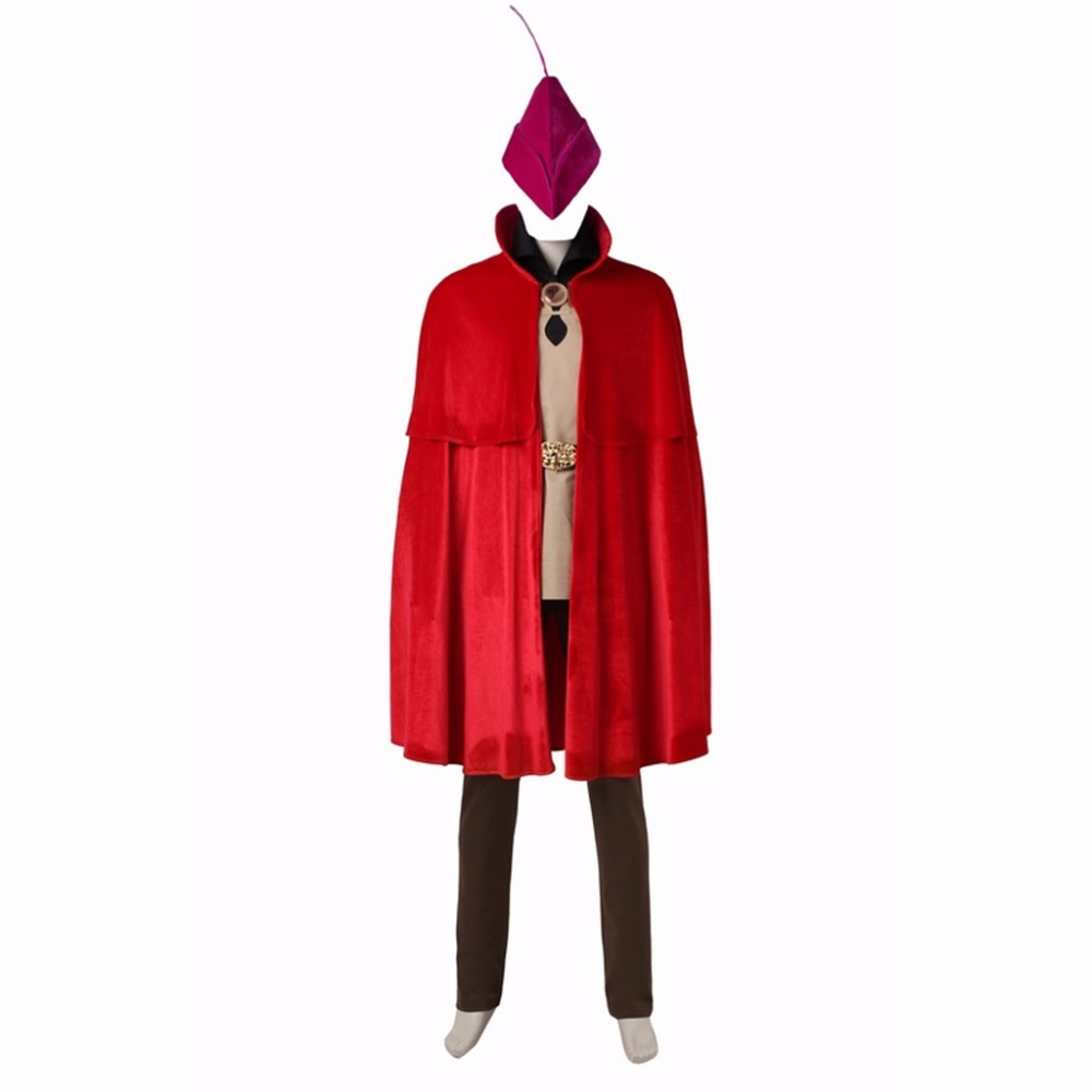 CosplayDiy Mens Outfit Sleeping Beauty Prince Phillip Red Cape Outfit Costume Cosplay fo ...