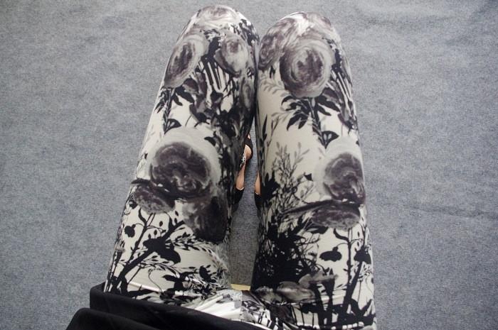 BIVIGAOS Spring Summer Womens Fashion Black Milk Thin Stretch leggings Colored Stars Graffiti Slim Skinny Leggings Pants Female 82