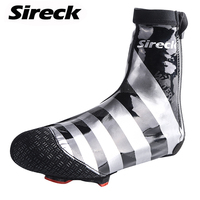 Sireck Winter Cycling Shoe Cover PU Waterproof Windproof Road Bike Bicycle Shoe Covers Reflective Cycling Overshoes
