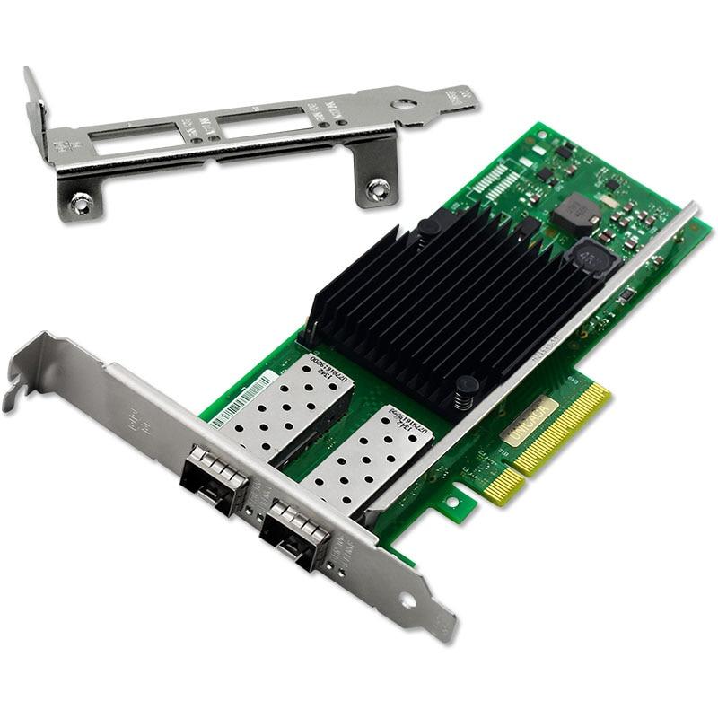 PCIe X8 10Gb/s Dual Port SFP+ Fiber Ethernet Network Card Chipset for X710