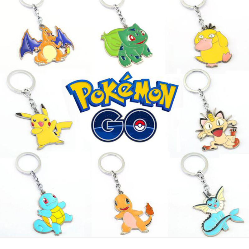 ORP Anime game peripheral products Pokemon Go Logo Keychain hot selling new key ring fine accessories