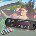 Car Digital LED 12V Auto MP3 Player Decoder Board Panel Support FM Radio USB TF AUX Remote Display Memory Function