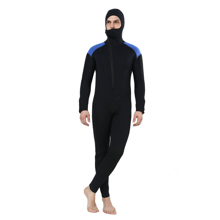 Realon Spearfishing 5MM Neoprene Wetsuit Men with Hoodies Scuba - Sportswear and Accessories - Photo 4