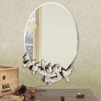 Бесплатная доставка Европейский водонепроницаемый птицы зеркало в стиле ретро декоративное настенное зеркало спальня ванная комната укра