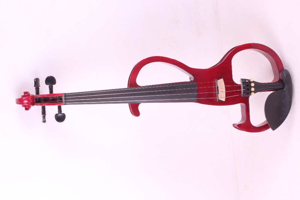 4/4 Electric Violin 4 string  red  color  #2 the item is the color   if you need other color please tell me 4 string 4 4 electric violin silent pickup fine tone solid wood3 the item is the color if you need other color please tell me