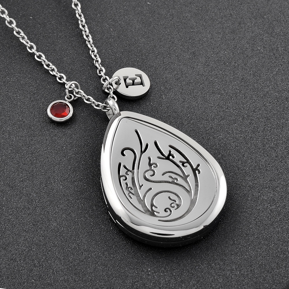 CMP0027 Free Pads Teardrop Personalized Scent Aromatherapy Diffuser Perfume Locket Essential Oil Diffuser Necklace DIY