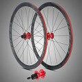 700C колеса 36 мм Глубина дискового тормоза гоночные диски FV клапан дорожный велосипед колесная с адаптером конвертировать через мост быстрый...