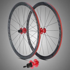 700C колеса 36 мм, глубина дискового тормоза, гоночные диски FV клапан, дорожная велосипедная колесо с адаптером, преобразование через RU-axle Quick ...