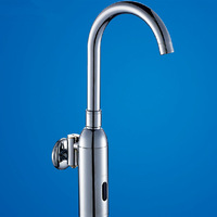 Free Shipping Bathroom Sink Auto faucet Wall Mounted Electronic Automatic Sensor Faucets,wall faucet taps automatic,single cold