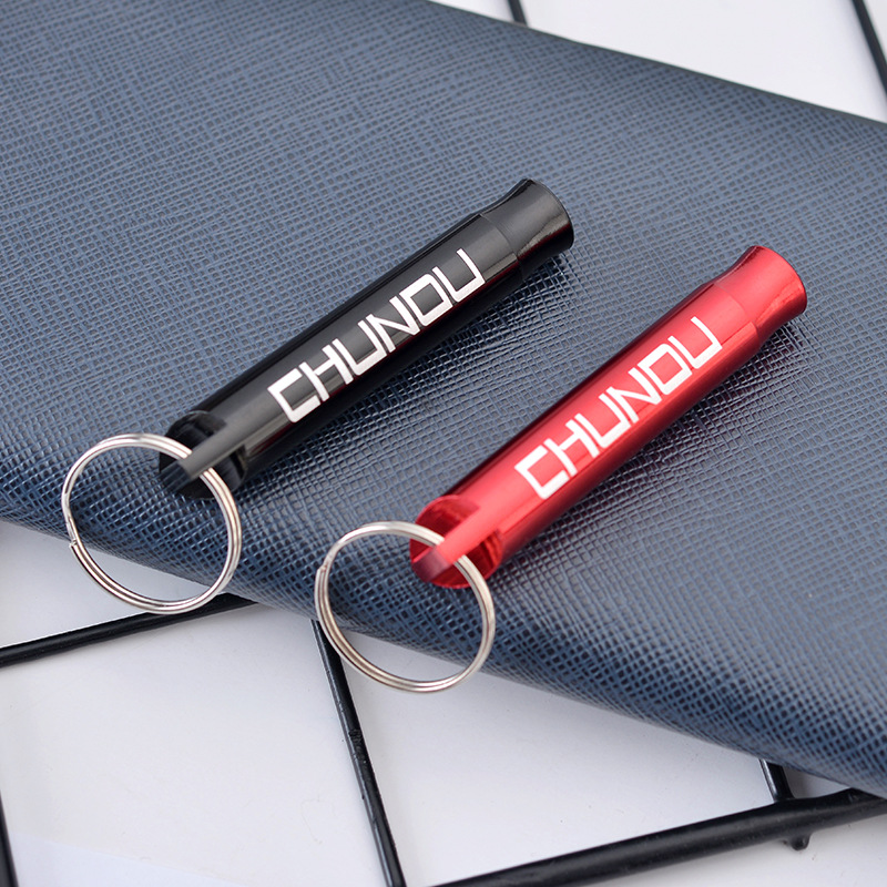 Creative New Multi-function Whistle Key Ring Circle Tide Brand Men's Key Chain Pendant Wholesale Custom Fashion Keychain K2256