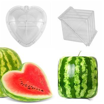 Kwadratowy kształt serca arbuz formy ogród owoców wzrostu formowania formy narzędzie tanie i dobre opinie Z tworzywa sztucznego