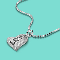 Fashion 925 Sterling Silver Necklace Women S Lovely Heart Pendant Female Charm Jewelry Solid Silver Chain