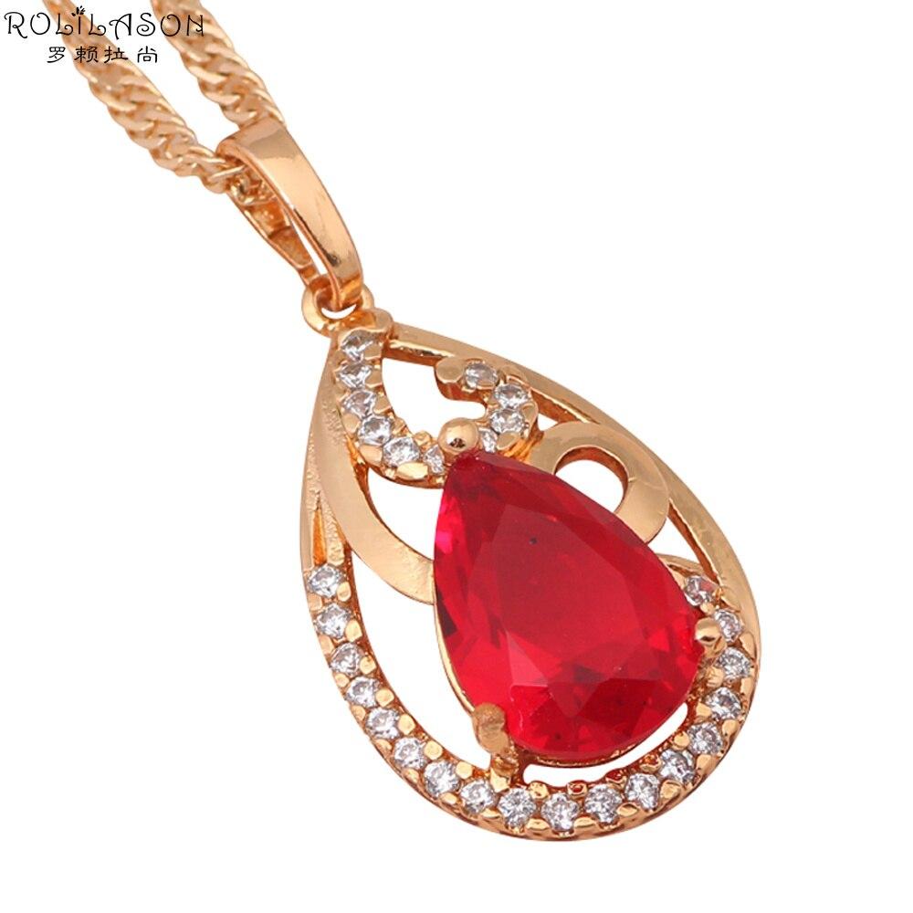 3fcef9873 Charming gold tone CZ Crystal AAA Zirconia necklaces & pendants for women  wedding fashion jewelry LN405