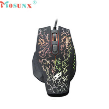 Mosunx Advanced 2017 high quality comfortable mini 2400 DPI 4D Buttons LED Wired Gaming Mouse For PC Laptop 1PC