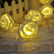 2pcs/lot Beautiful Holiday Lighting LED Novelty Rose Flower Fairy String Lights Wedding Garden Party Christmas Decoration