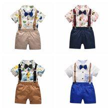 9920aceab373e Beyefendi Rahat Erkek Bebek Kıyafetler Setleri Yaz Bebek Erkek Giysileri  Kısa Kollu Gömlek ile Ilmek +