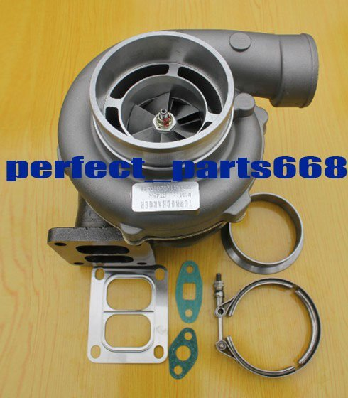 """GT45R -3 A/R .70 turbine A/R 1.15 T4 oil GT45 Turbo charger 4"""" v-band turbocharger gasket v band clamp"""