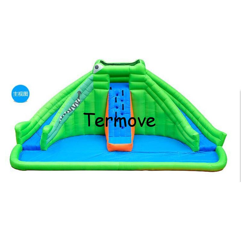 inflatable playhouse slide Children oxford inflatable indoor yard playground trampoline inflatable circle splash water slide indoor children soft playground electric play toys for play center amusement indoor playground equipment ina1555