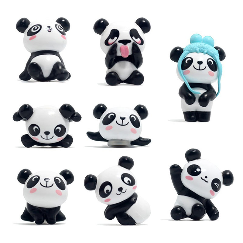 Toy Decorative-Toys Dolls Collectible-Model Action-Figure Cute Resin Panda for Children's-Day