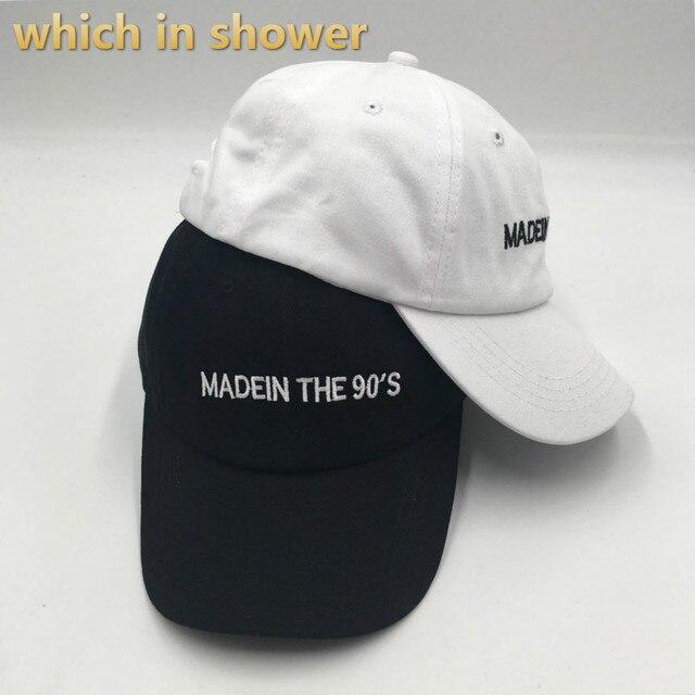 Mektup Nakış ÇIN'DE YAPıLAN 90 S Baba Şapka Kadın Erkek Pamuk MADEIN 90 S beyzbol şapkası Hip Hop streetwear Erkek Snapback Kemik
