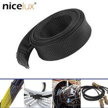 5 м/10 м утепленная оплетка 2/4/6/8/10/12/15/20/25 мм плотный PET провод кабель защиты расширяемый кабель рукав провода сальник для герметизации провода