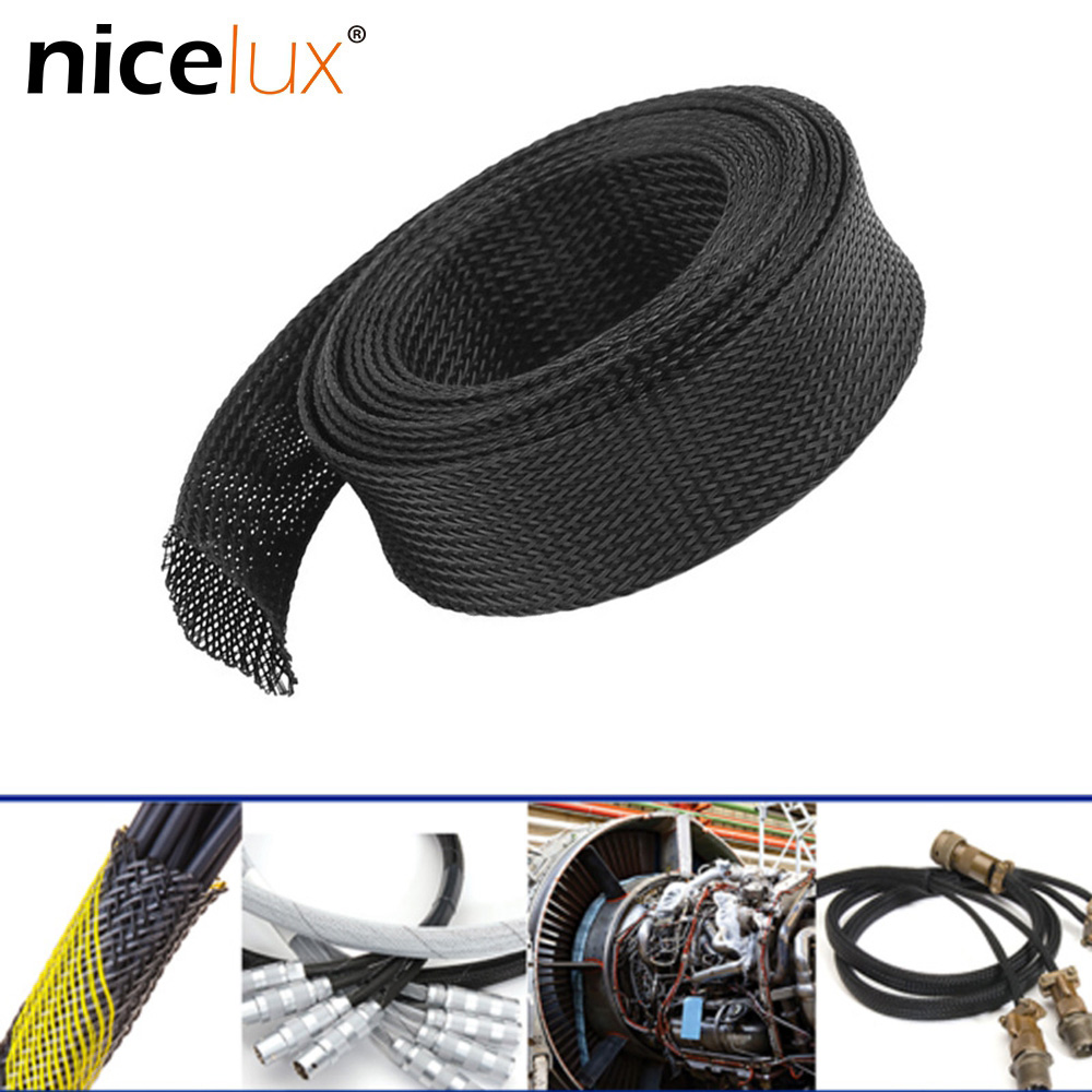 5M/10M Insulated Braid Sleeving 2/4/6/8/10/12/15/20/25mm Tight PET Wire Cable Protection Expandable Cable Sleeve Wire Gland