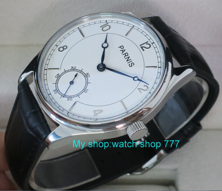 44 mm PARNIS White dial Asian 6498/3621 Mechanical Hand Wind men watches Mechanical watches wholesale rnm05 44 mm parnis white dial asian 6498 3621 mechanical hand wind men watches mechanical watches wholesale 389