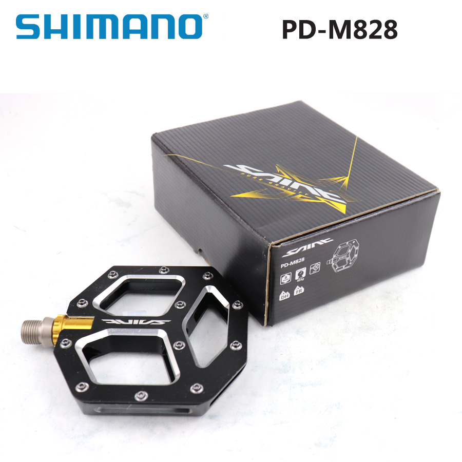 SHIMANO SAINT PD M828 Flat Pedal Is Perfect For Downhill Or Freeride Original Box Mountain Bike