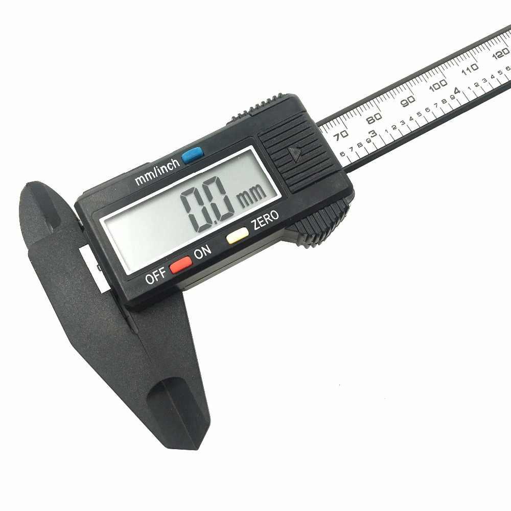 GOXAWEE 150mm 6 pouces LCD numérique électronique en Fiber de carbone Vernier étrier jauge micromètre outil de mesure en plastique étrier