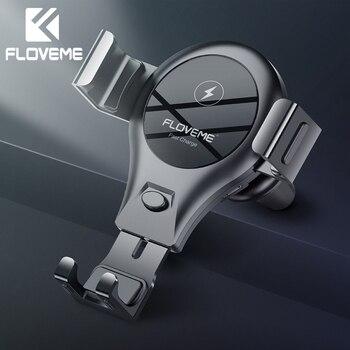 FLOVEME Qi Auto Drahtlose Ladegerät Für iPhone XS Samsung S9 Auto Telefon Ladegerät Schnelle Wirless Lade USB Drahtlose Auto Ladegerät halter
