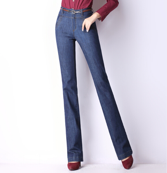 ФОТО Straight jeans casual pants for women slimming full length high waist autumn spring winter new fashion plus size kll0510