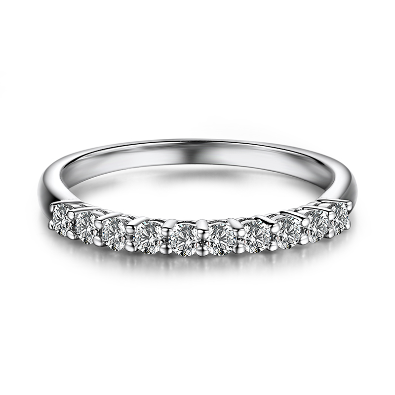 Solid 18k White Gold Engagement Ring 0.3CT SI/H Natural Diamonds Wedding Band Women Fine Ring цена