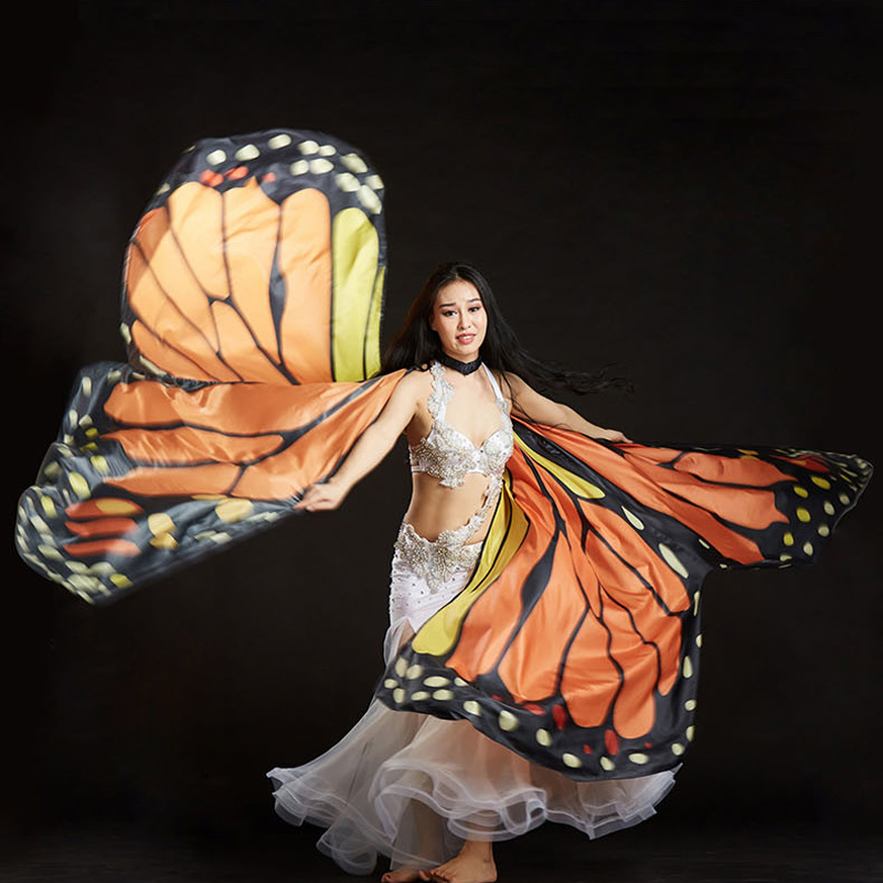Fairy wings Rainbow Belly Dance Costume Gradient  Fairy party Isis Wings