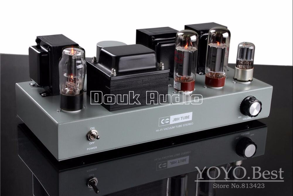 2016 Lastest Douk Audio EL34 Vacuum Finished Tube Amplifier Class A single-ended Stereo Power Amp 110~240V finished 6n2 fu32 vacuum tube amplifier single ended tube power amp 110v or 220v version available