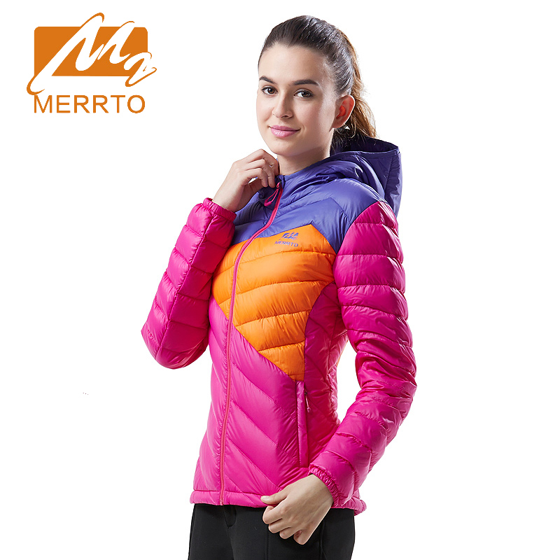 ФОТО 2017 Merrto Outdoor Sports Windbreaker Down Jacket  Breathable Climbing Camping Hiking Jacket Fit Outwear Free Shipping MT19198